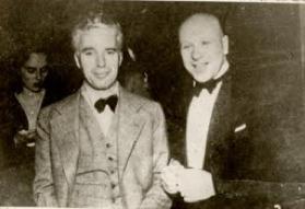 Charles Chaplin & Sergei Ermollaeff Paramount Ballroom, Shanghai, China 1933