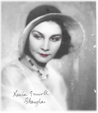 Virtual Archive of Cultural Memories: Portrait of Xenia Vladimirovna, Shanghai, China, 1930s
