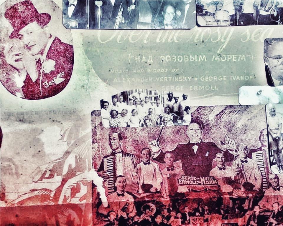 Over The Rosy Sea/ The Pink Sea Над розовым морем Music and words by Alexander Vertinsky, Serge Ermoll and George Ivanoff 1936  Над розовым морем вставала луна,Во льду зеленела бутылка вина.И томно кружились влюбленные парыПод жалобный рокот гавайской гитары. Послушай, о как это было давно!Такое же море, и то же вино.Мне кажется, будто и музыка та же…Послушай! Послушай! Мне кажется даже! Нет, вы ошибаетесь, друг дорогой!Мы жили тогда на планете другой.И слишком устали, и слишком мы старыИ для этого вальса, и для этой гитары.