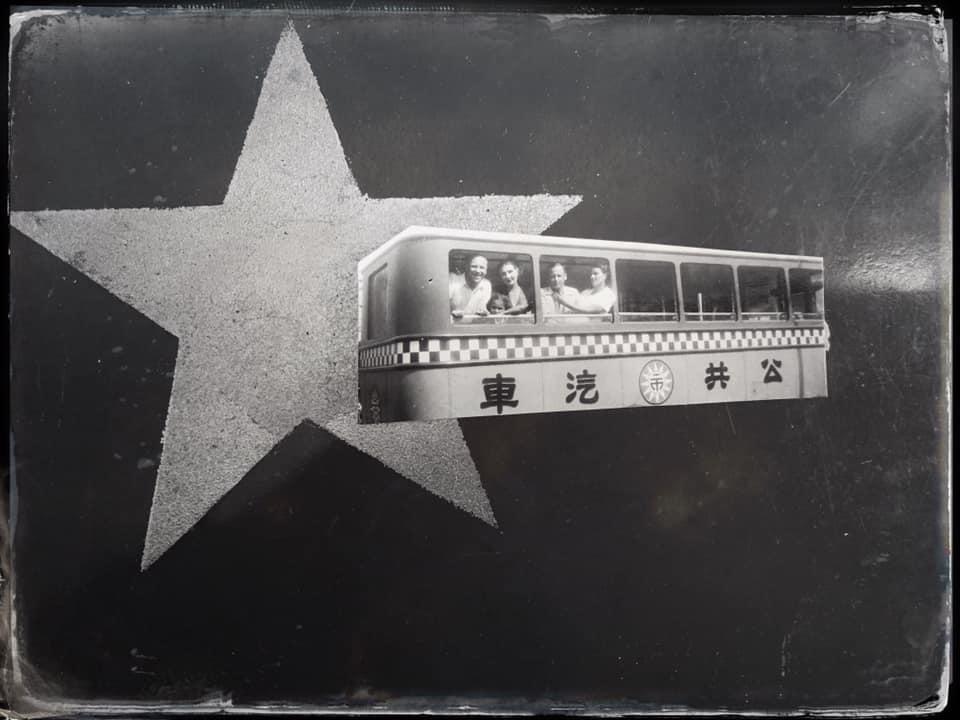 Xenichka & Sergei on an old Shànghǎi bus/ tram 🎶💮 #上海 #中國 red star wartime…