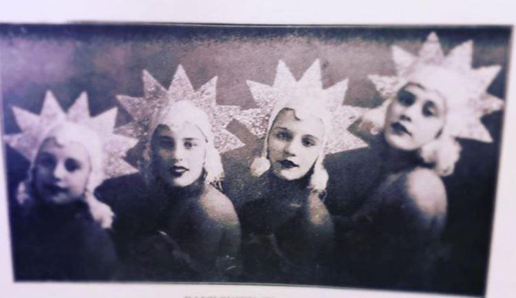 Danilevsky Sisters cabaret act Shanghai in Russians in Shanghai by Captain V. D. Zhiganov (1936)
